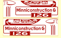 M27   MINNITOYS Bulldozer DECAL SET ( Red )